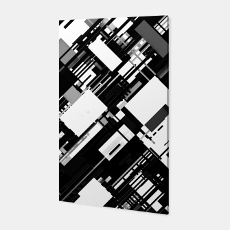 Thumbnail image of Black and White Graphic Design Canvas, Live Heroes