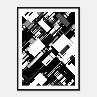 Thumbnail image of Black and White Graphic Design Framed poster, Live Heroes
