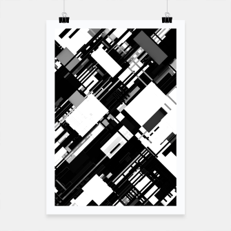 Thumbnail image of Black and White Graphic Design Poster, Live Heroes