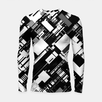 Thumbnail image of Black and White Graphic Design Longsleeve rashguard , Live Heroes