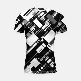 Thumbnail image of Black and White Graphic Design Shortsleeve rashguard, Live Heroes