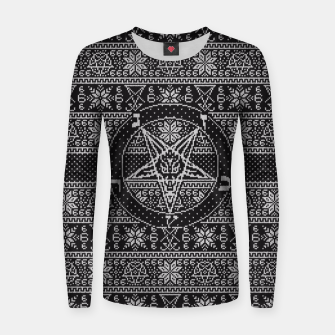 Miniatur Satanic ugly sweater Women sweater, Live Heroes