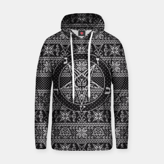 Thumbnail image of Satanic ugly sweater Hoodie, Live Heroes