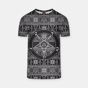 Thumbnail image of Satanic ugly sweater T-shirt, Live Heroes