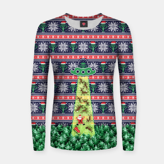 Thumbnail image of Christmas aliens Women sweater, Live Heroes