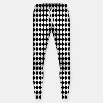 Imagen en miniatura de Classic Black and White Harlequin Diamond Check Sweatpants, Live Heroes