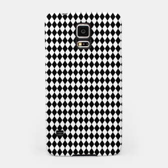Imagen en miniatura de Classic Black and White Harlequin Diamond Check Samsung Case, Live Heroes