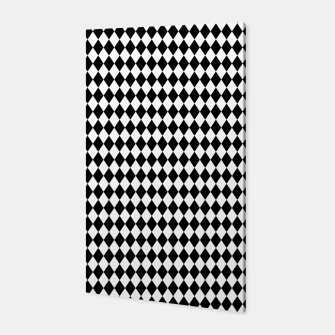 Imagen en miniatura de Classic Black and White Harlequin Diamond Check Canvas, Live Heroes