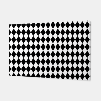 Large Black and White Harlequin Diamond Check Canvas imagen en miniatura