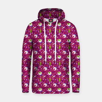 Creepy Halloween Pattern Hoodie thumbnail image