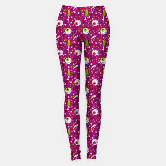 Thumbnail image of Creepy Halloween Pattern Leggings, Live Heroes