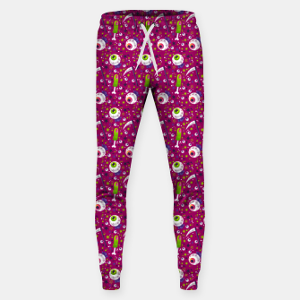 Thumbnail image of Creepy Halloween Pattern Sweatpants, Live Heroes