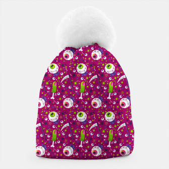 Thumbnail image of Creepy Halloween Pattern Beanie, Live Heroes