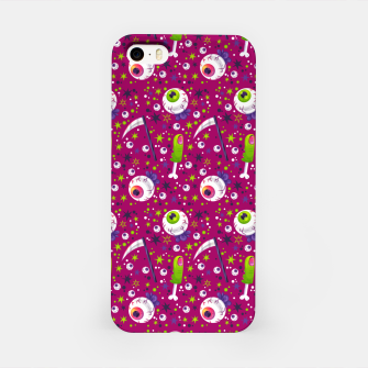 Creepy Halloween Pattern iPhone Case thumbnail image