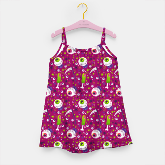 Thumbnail image of Creepy Halloween Pattern Girl's dress, Live Heroes