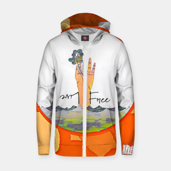 Thumbnail image of Live free Zip up hoodie, Live Heroes