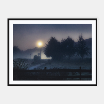 Thumbnail image of Patagonia Landscape Night Scene, Chile Framed poster, Live Heroes