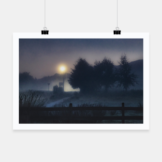 Miniatur Patagonia Landscape Night Scene, Chile Poster, Live Heroes