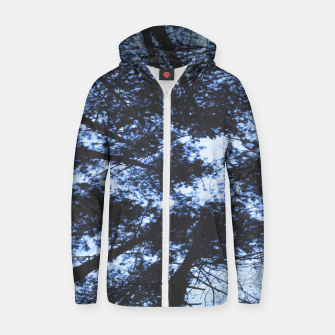 Thumbnail image of Looking Up At Trees Zip up hoodie, Live Heroes
