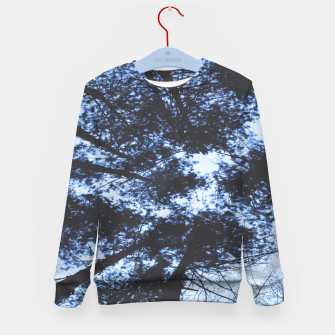 Thumbnail image of Looking Up At Trees Kid's sweater, Live Heroes