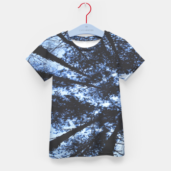 Thumbnail image of Looking Up At Trees Kid's t-shirt, Live Heroes