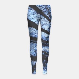 Thumbnail image of Looking Up At Trees Girl's leggings, Live Heroes
