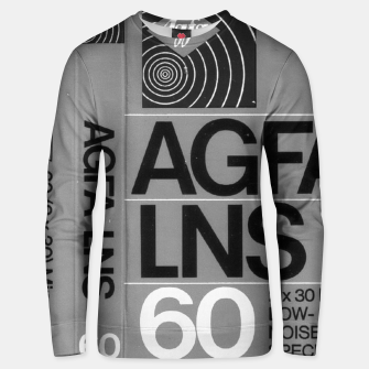 Thumbnail image of Fashion itens and decor art of a Label of a Cassette Tape Agfa  Unisex sweater, Live Heroes