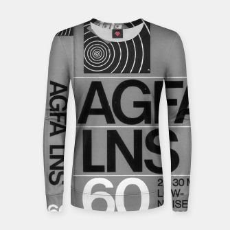 Thumbnail image of Fashion itens and decor art of a Label of a Cassette Tape Agfa  Women sweater, Live Heroes