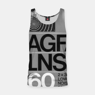 Thumbnail image of Fashion itens and decor art of a Label of a Cassette Tape Agfa  Tank Top, Live Heroes