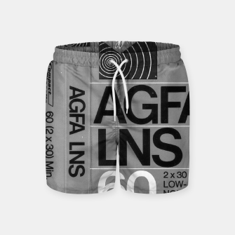 Thumbnail image of Fashion itens and decor art of a Label of a Cassette Tape Agfa  Swim Shorts, Live Heroes