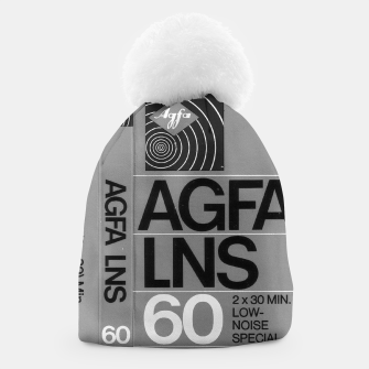 Thumbnail image of Fashion itens and decor art of a Label of a Cassette Tape Agfa  Beanie, Live Heroes