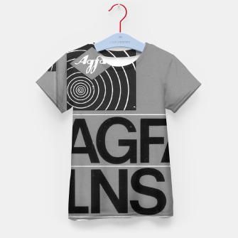 Thumbnail image of Fashion itens and decor art of a Label of a Cassette Tape Agfa  Kid's t-shirt, Live Heroes
