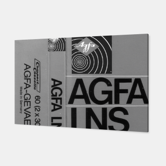 Thumbnail image of Fashion itens and decor art of a Label of a Cassette Tape Agfa  Canvas, Live Heroes