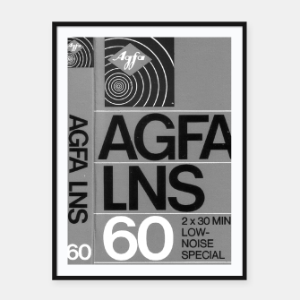 Thumbnail image of Fashion itens and decor art of a Label of a Cassette Tape Agfa  Framed poster, Live Heroes