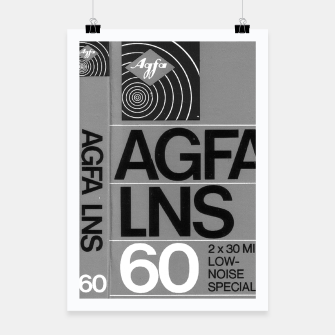 Thumbnail image of Fashion itens and decor art of a Label of a Cassette Tape Agfa  Poster, Live Heroes