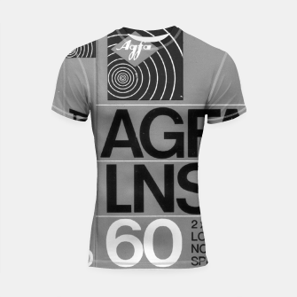 Thumbnail image of Fashion itens and decor art of a Label of a Cassette Tape Agfa  Shortsleeve rashguard, Live Heroes