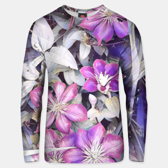 Thumbnail image of clematis flowers Bluza unisex, Live Heroes