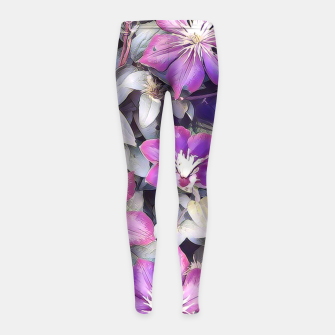 Thumbnail image of clematis flowers Legginsy dziewczęce, Live Heroes