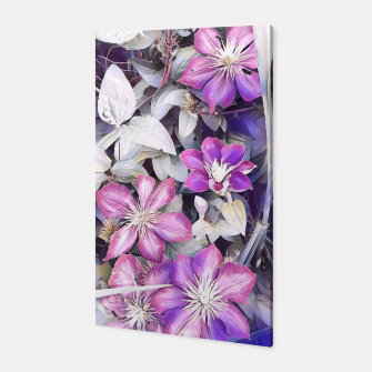 Miniatur clematis flowers Canvas, Live Heroes
