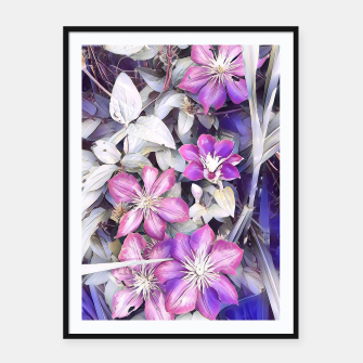 Thumbnail image of clematis flowers Plakaty w ramie , Live Heroes