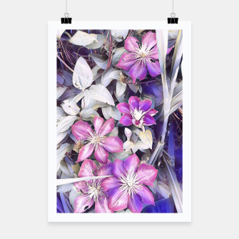 Thumbnail image of clematis flowers Plakat, Live Heroes