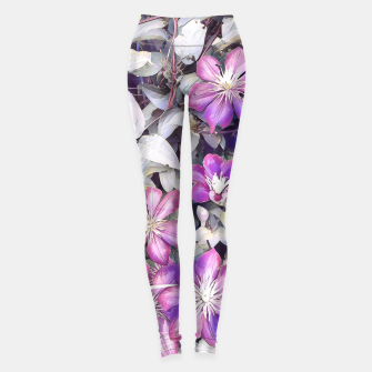 Thumbnail image of clematis flowers Legginsy, Live Heroes