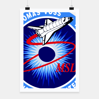Miniaturka Fashion art and decor items of NASA Space Shuttle NLS mission Logo Poster, Live Heroes