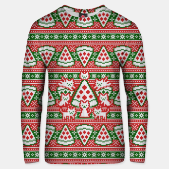 Thumbnail image of Cats and pizza ugly sweater Unisex sweater, Live Heroes