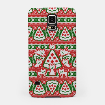 Cats and pizza ugly sweater Samsung Case miniature