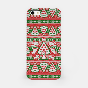 Thumbnail image of Cats and pizza ugly sweater iPhone Case, Live Heroes