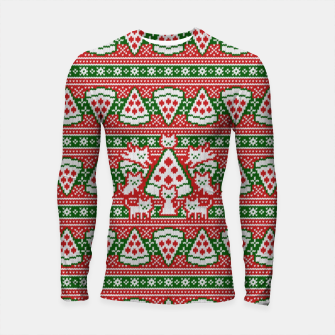 Thumbnail image of Cats and pizza ugly sweater Longsleeve rashguard , Live Heroes
