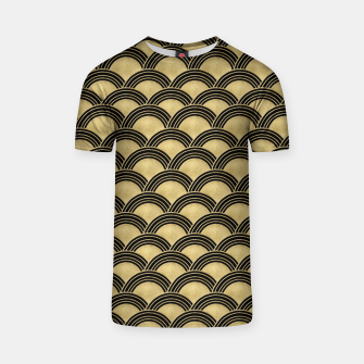 Miniatur Japanese Wave Gold Glam #2 #decor #art  T-Shirt, Live Heroes