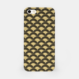 Miniatur Japanese Wave Gold Glam #2 #decor #art  iPhone-Hülle, Live Heroes