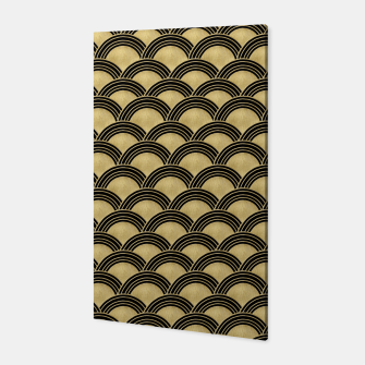 Miniatur Japanese Wave Gold Glam #2 #decor #art  Canvas, Live Heroes